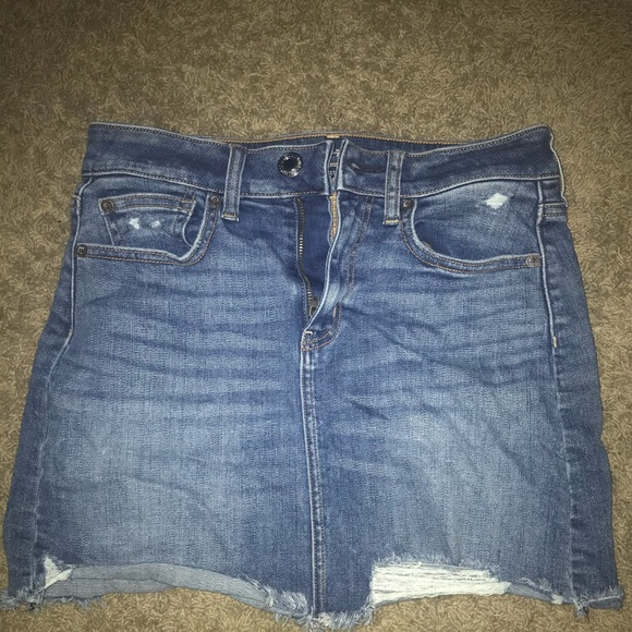 American Eagle Outfitters Dresses & Skirts - Super Stretch Blue Jean Skirt